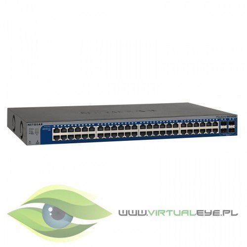 Switch Smart 48xGE 4xSFP+ Stack - GS752TXS, 1_195179