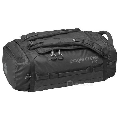 Eagle Creek Cargo Hauler Duffel 45L torba podróżna składana 55 cm / plecak / Black - Black, kolor czarny