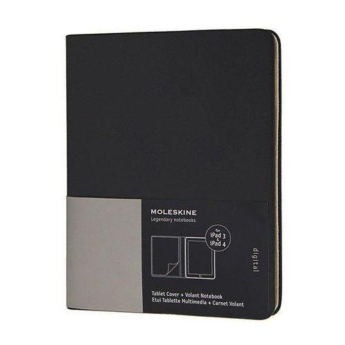 Moleskine Etui slim cover na tablet ipad3 i ipad4 czarne