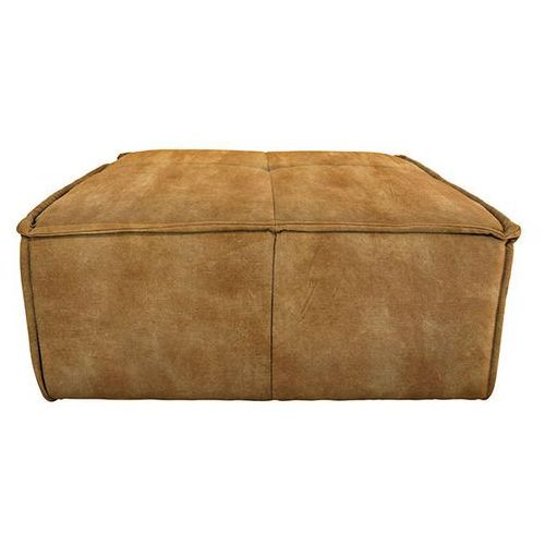 HK Living Hoker/podnóżek do sofy Cube velvet musztardowy MZM4715