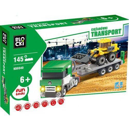 Klocki Blocki Transport Ciężarówka ze spychaczem 145 elementów