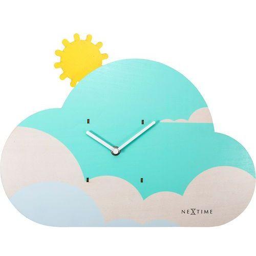 Zegar ścienny z wahadłem do pokoju dziecięcego Cloudy Nextime (3207) (8717713018896)