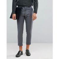 smart cropped trousers in grey - grey, Selected homme