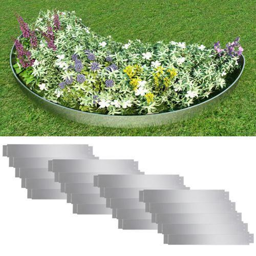 Vidaxl  zestaw 20 elastycznych obrzeży ogrodowych, stalowych, 100 x 15 cm