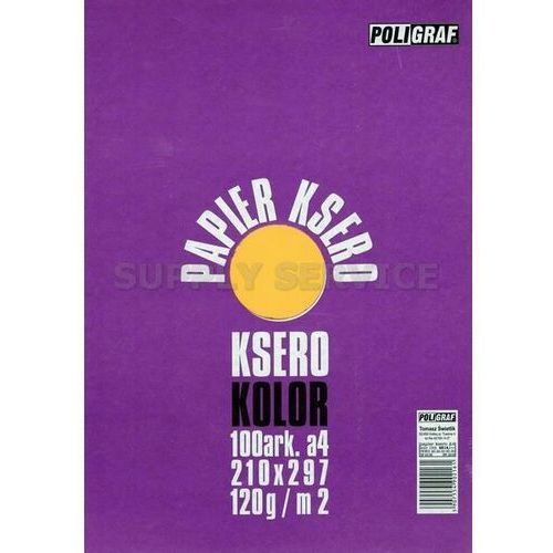 Papier xero a4 kolor mix 120g. intensywny marki Poligraf