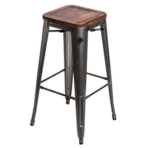 D2.design Hoker paris wood 75cm sosna - metaliczny (5902385715379)