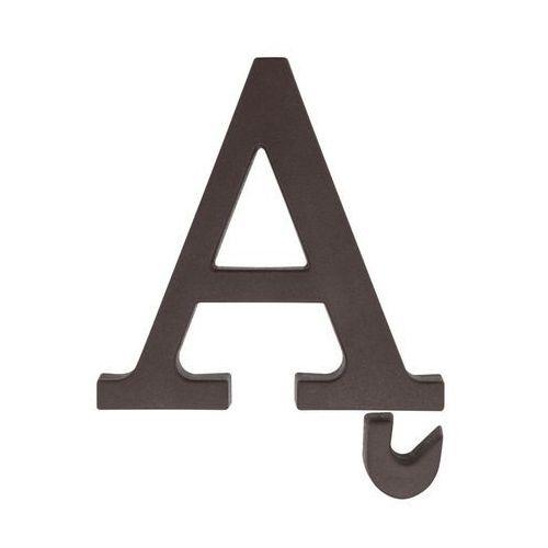 Litera Ą wys. 9 cm PVC brązowa