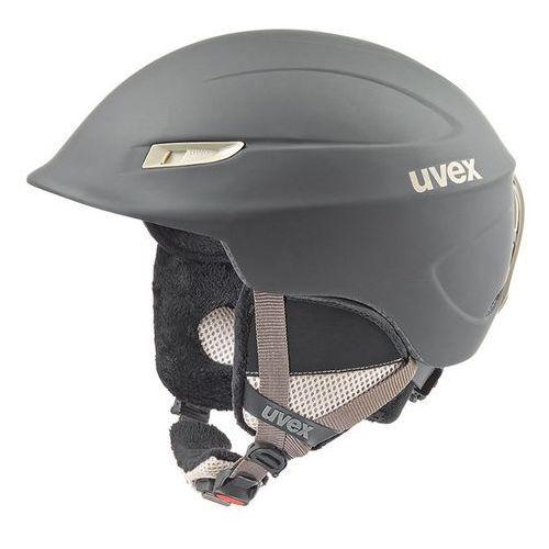 Uvex Damski kask narciarski  gamma wl czarny/prosecco m (53-57 cm)