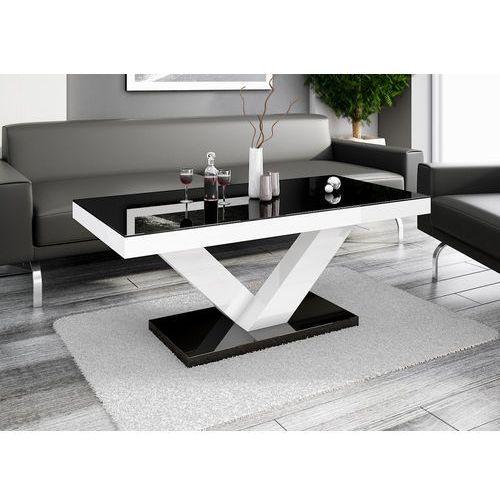 Hubertus design Ława victoria mini czarno-biała wysoki połysk