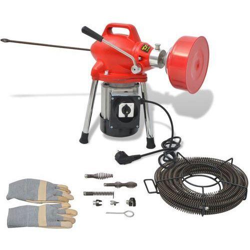 Vidaxl maszyna do czyszczenia rur, 250 w, 12,5mx16mm 4,5mx9,5mm