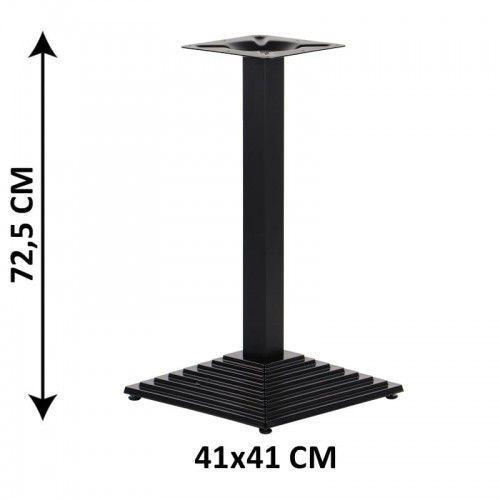 Podstawa stolika żeliwna SH-5014-1/60/B, 41x41 cm (stelaż stolika), kolor czarny (5903917403405)