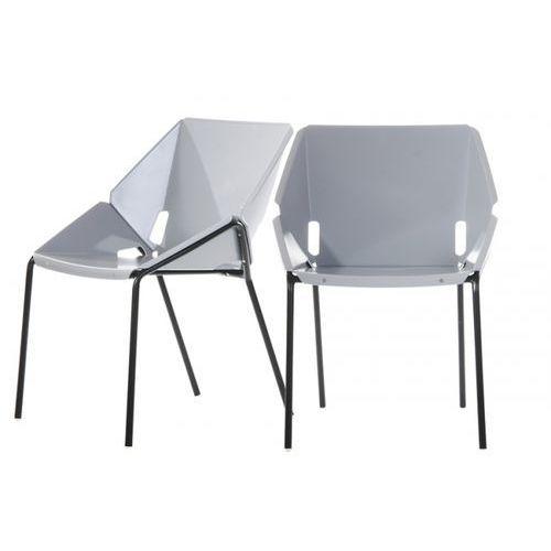 Nowoczesne krzesło tecno szare marki Custom form