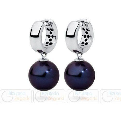 FC Kolczyki z perłą wiszące 3061221017 PM 12 kolor granatowy