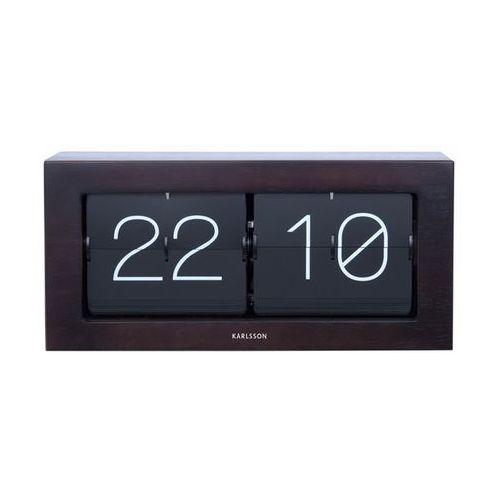 Zegar stołowo/ścienny Flip Clock Boxed XL dark wood by Karlsson, KA5642DW