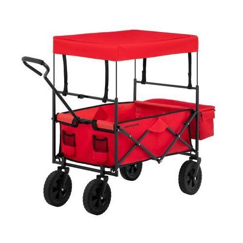 wózek ogrodowy składany - 100 kg - czerwony uni_cart_01 - 3 lata gwarancji marki Uniprodo