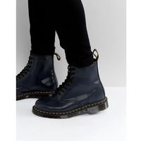 1460 8 eye graphic embossed boots - navy marki Dr martens