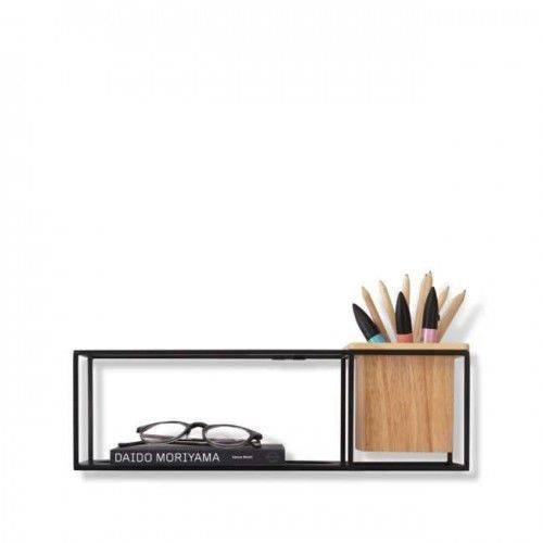 UMBRA półka CUBIST SMALL czarna - metal, drewno