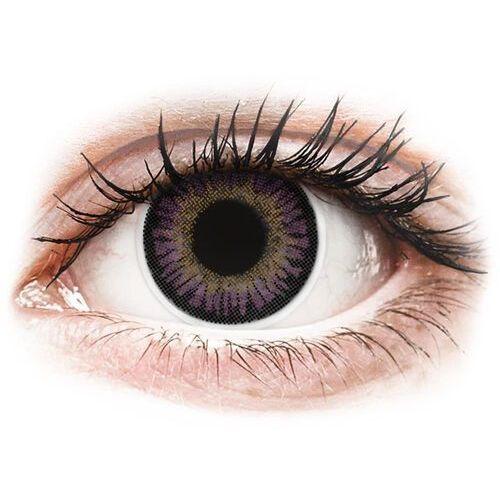 Maxvue vision Colourvue 3 tones violet - zerówki (2 soczewki)