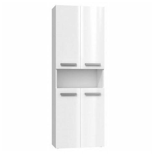 Szafka łazienkowa Malmo 2X - biały połysk, kolor biały