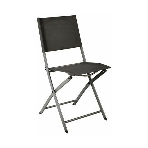 Naterial Krzesło ogrodowe składane emys antracytowe