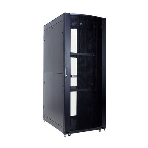 Szafa Serwerowa Linkbasic 42U 600x1000 / drzwi perforowane / 2x półka / 4x wentylator / 4x kółka / 4x nóżki / 1x Listwa zasilająca, NCI42-610-KLA-C