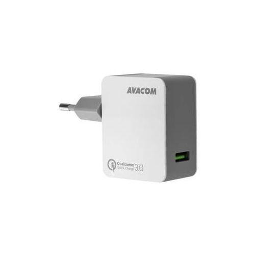 Ładowarka do sieci  homemax, 1x usb (3a), s funkcí rychlonabíjení qc 3.0 (nasn-qc1x-ww) biała marki Avacom
