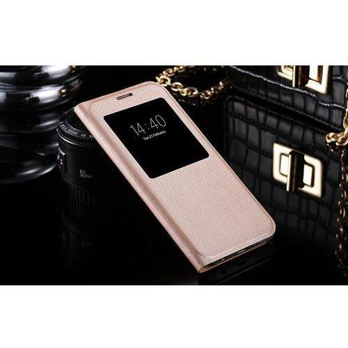 Flip Leather Złoty | Etui z klapką dla Samsung Galaxy S7 - Złoty
