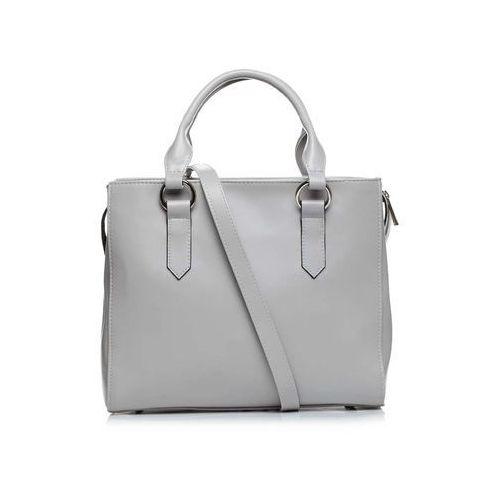 Szara klasyczna pojemna torebka na rączkach marki Moe