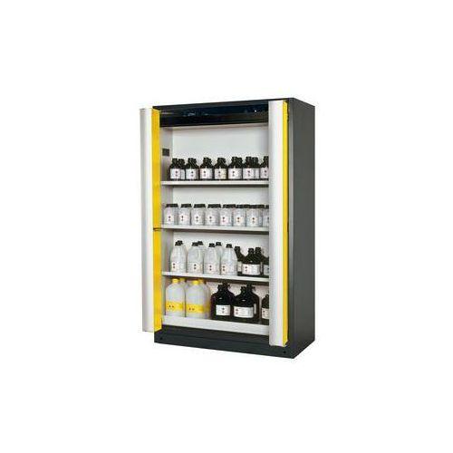 Szafa z drzwiami harmonijkowymi Q-PHOENIX-90,z 3 półkami