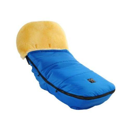 Kaiser śpiworek na nóżki ze skóry jagnięcej do wózków bugaboo und joolz, niebieski (4011863740213)