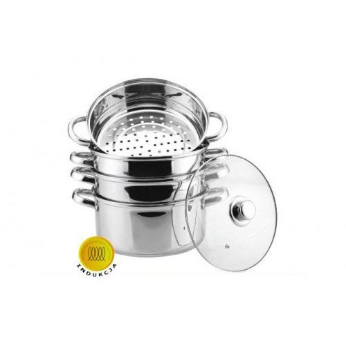 Hoffner Garnki do gotowania na parze 8.0l 5 ele 18cm [hf-9185]