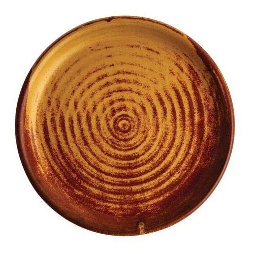 Okrągły talerz o wąskim brzegu, rdzawa sjena 180mm canvas (zestaw 6 sztuk) marki Olympia