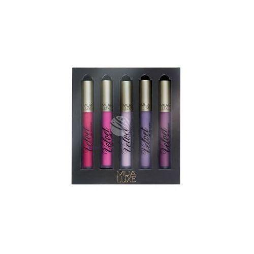 luxe velvet lip lacquer (w) zestaw 5 matowych pomadek do ust w płynie no shrinking violet marki Mua