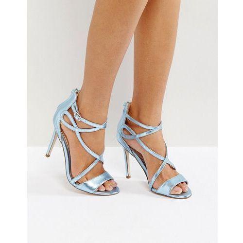 Miss KG Fiesta Metallic Strap Heeled Sandals - Blue, kolor niebieski