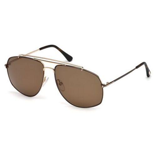Tom ford Okulary słoneczne ft0496 polarized 28m