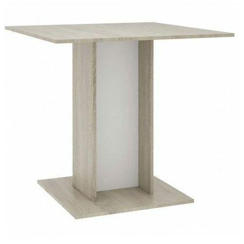 Stół kwadratowy marvel – biel i dąb sonoma marki Producent: elior