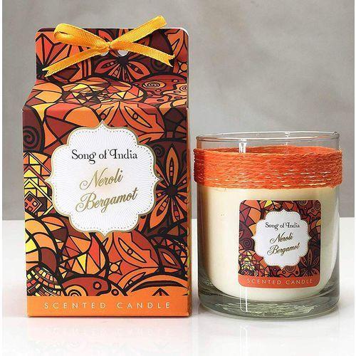 Song of India sojowa świeca zapachowa w szklanym słoju Neroli Bergamot 200g