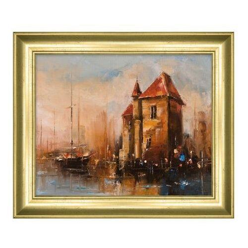 Obraz 24 x 30 cm Gdańsk Port
