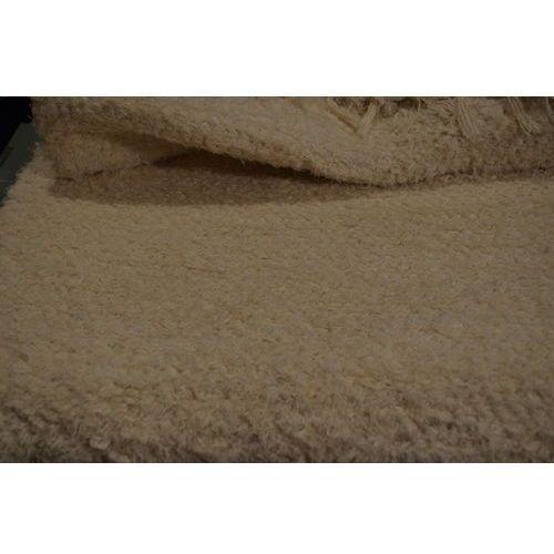 Twórczyni ludowa Chodnik bawełniany ręcznie tkany ecru 65x100 cm