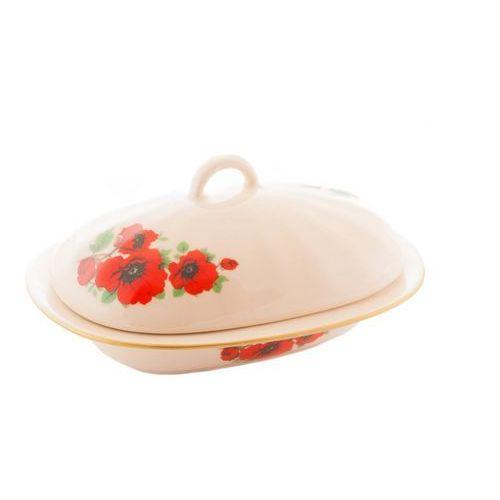 Maselnica na masło maki polska ceramika marki Mieroszów