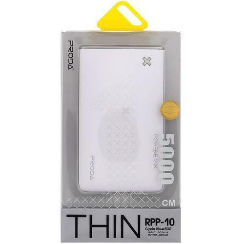 powerbank rpp-10 thin 5000 mah, biały/szary marki Remax