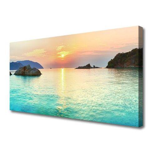 Tulup.pl Obraz canvas słońce skały morze krajobraz