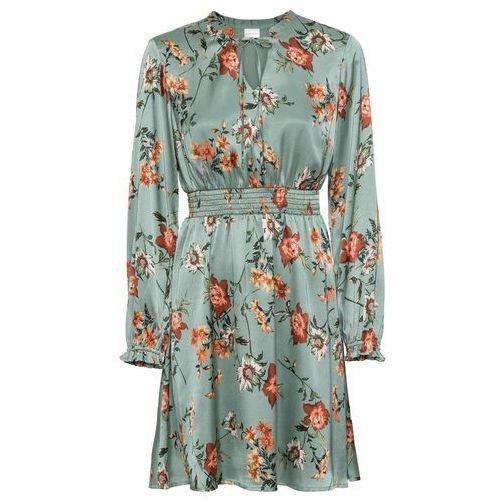 Bonprix Sukienka szyfonowa z cekinami kobaltowy
