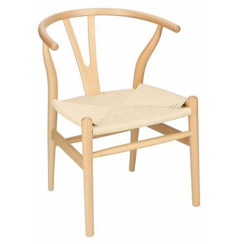 Krzesło Wicker inspirowane Wishbone - naturalny