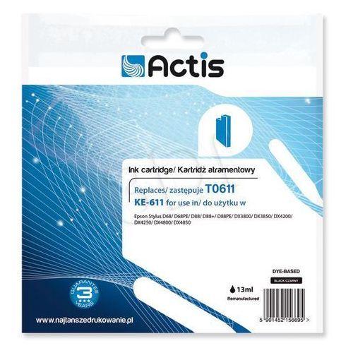Actis KE-611 (Epson T0611 D68/D88/DX3800 ) Czarny Darmowy odbiór w 21 miastach! (5901452156695)