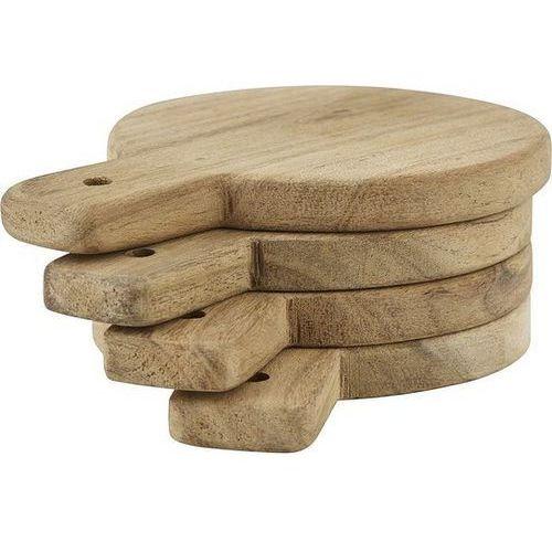 Deski do serwowania okrągłe drewniane Nicolas Vahe 4 szt.