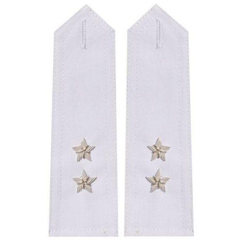 Pagony białe do koszulo-bluzy Wojska Polskiego - podporucznik (haft bajorkiem)