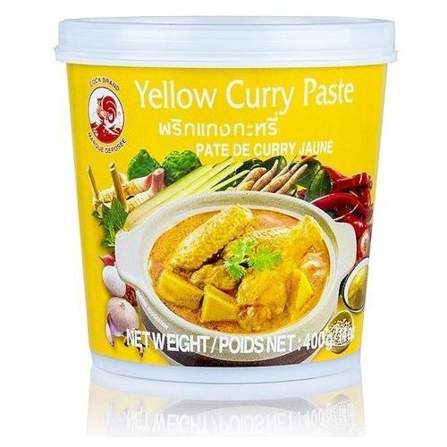 Pasta curry żółta 400g marki Cock brand