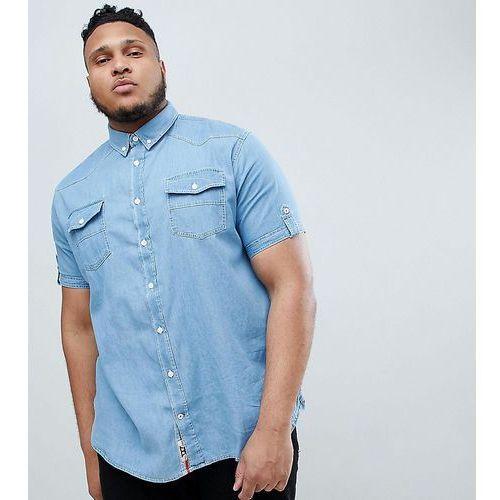Duke King Size Short Sleeve Denim Shirt - Blue