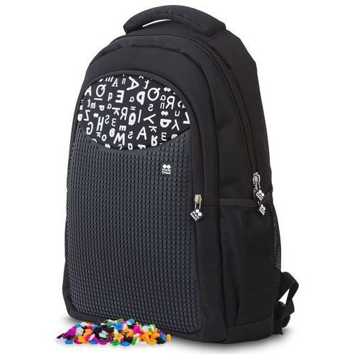Pixie crew plecak szkolny, czarny w litery